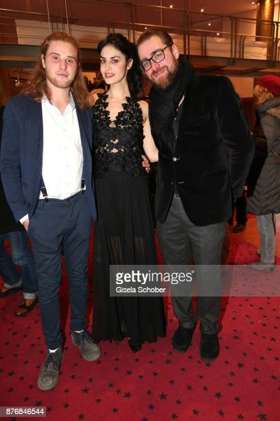 Martin Augustin Schneider Violetta Schurawlow and Producer Jan Krueger during the premiere of 'Der Mann aus dem Eis' at Cinemaxx on November 20 2017...