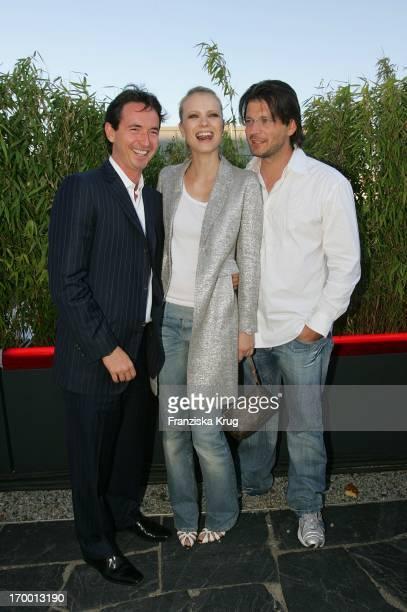 Martin Bachmann Franziska Knuppe And Husband Christian Moestl When image Summer Festival In Berlin On 280605
