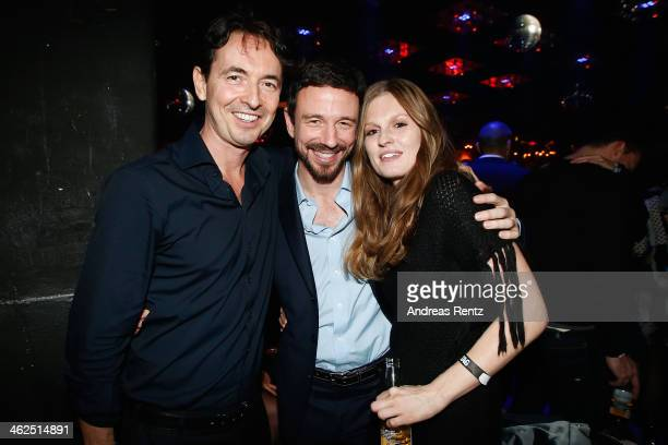 Martin Bachmann Oliver Berben and Katrin Kraus attend the after show party of the film 'Nicht mein Tag' at Ritter Butzke on January 13 2014 in Berlin...