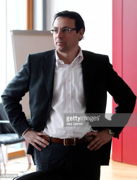Martin Bader manager of 1FC Nuernberg waits for the process against 1FC Nuernberg at the court of the German Football Association on March 22 2010 in...