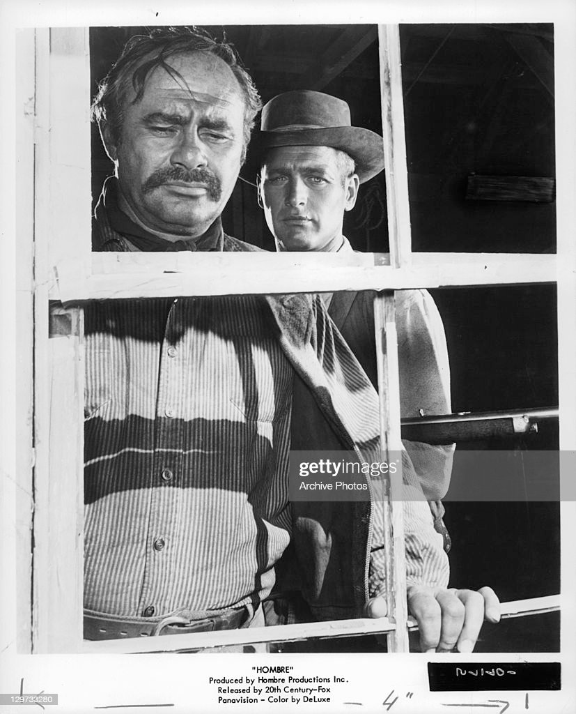 Martin Balsam And Paul Newman In 'Hombre' : News Photo