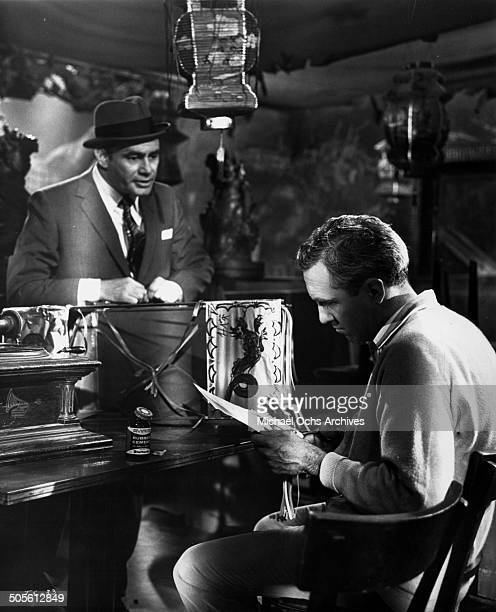 Martin Balsam talks with Jason Robards in a scene from the movie A Thousand Clowns circa 1965