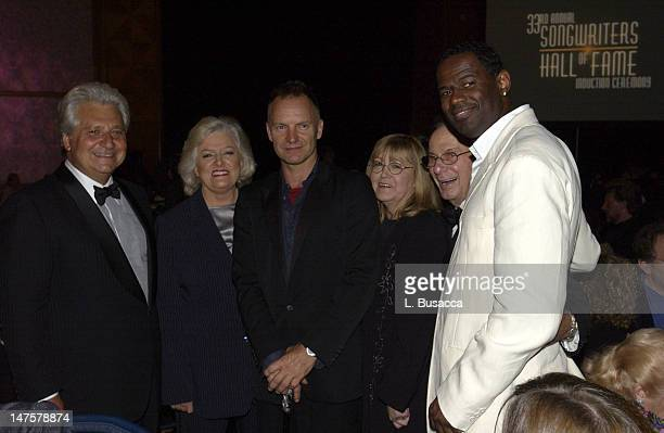 Martin Bandier Frances Preston Sting Linda Moran Hal David and Brian McKnight