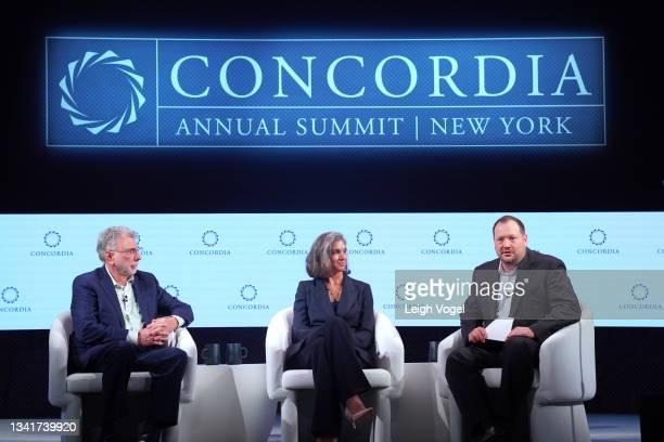 Martin Baron, Former Executive Editor, The Washington Post, Radhika Jones, Editor-in-Chief, Vanity Fair and Blake Hounshell, Managing Editor,...
