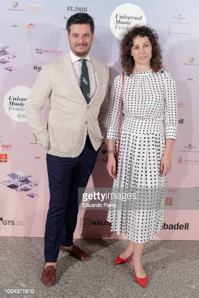 Martin Barreiro and Ana Marino attend the Gregory Porter concert photocall at Royal Theatre on July 23 2018 in Madrid Spain