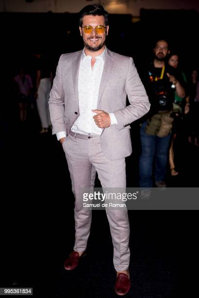 Martin Barreiro attends the front row of Garcia Madrid show during Mercedes Benz Fashion Week Madrid on July 10 2018 in Madrid Spain