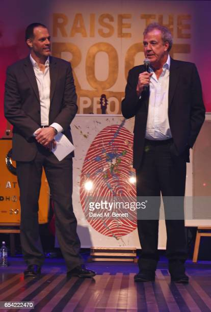 Martin Bayfield and Jeremy Clarkson attend the Roundhouse Gala at The Roundhouse on March 16 2017 in London England