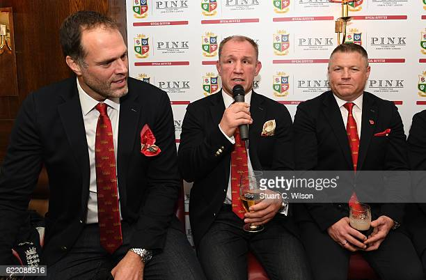Martin Bayfield Neil Back and Scott Gibbs attend Thomas Pink's Pink Lion Rugby Club 'An Evening of Lions Tales' event to celebrate their sponsorship...