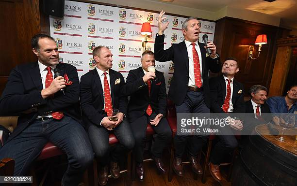 Martin Bayfield Neil Back Scott Gibbs Gavin Hastings and Brian O'Driscoll attend Thomas Pink's Pink Lion Rugby Club 'An Evening of Lions Tales' event...