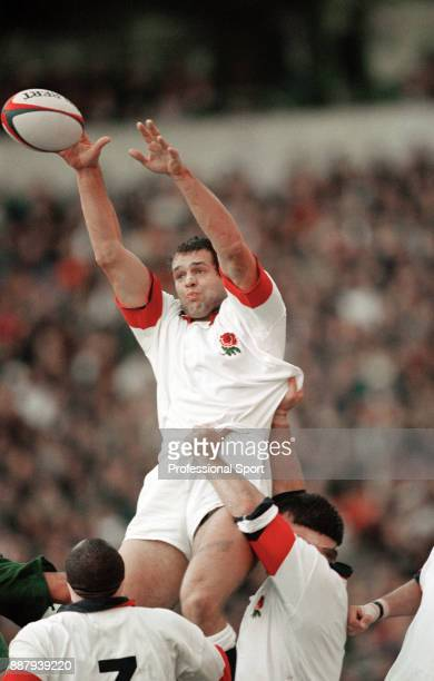 Martin Bayfield of the England rugby union team in action circa 1995