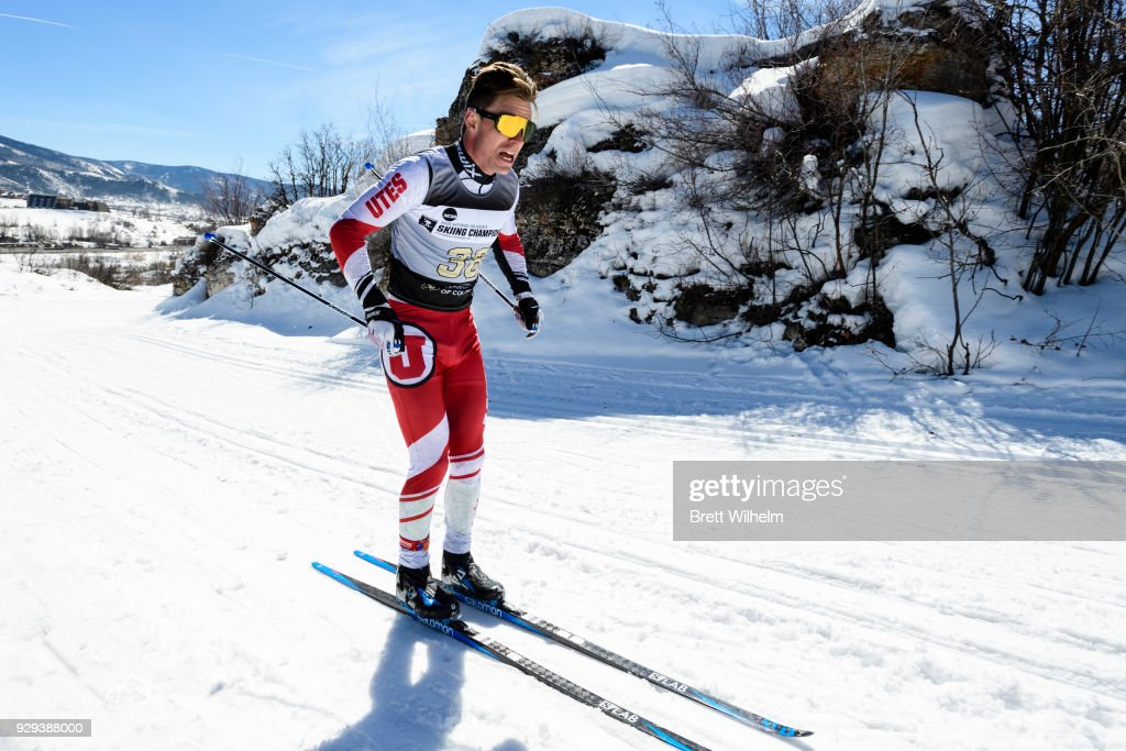 Martin Bergstroem of the University of Utah competes in the