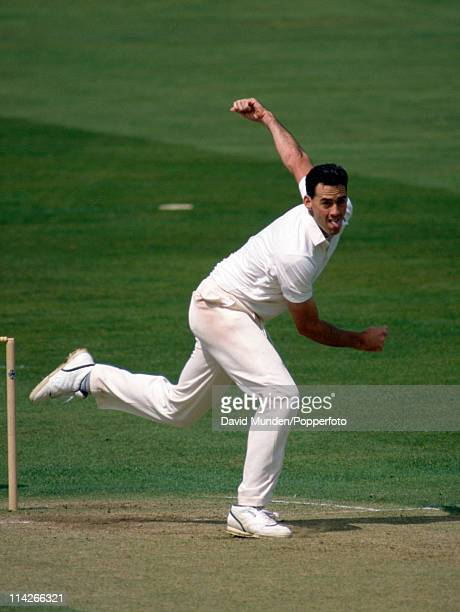Martin Bicknell bowling for Surrey during the Refuge Assurance League match against Nottinghamshire at Trent Bridge, Nottingham on the 10th May 1992....