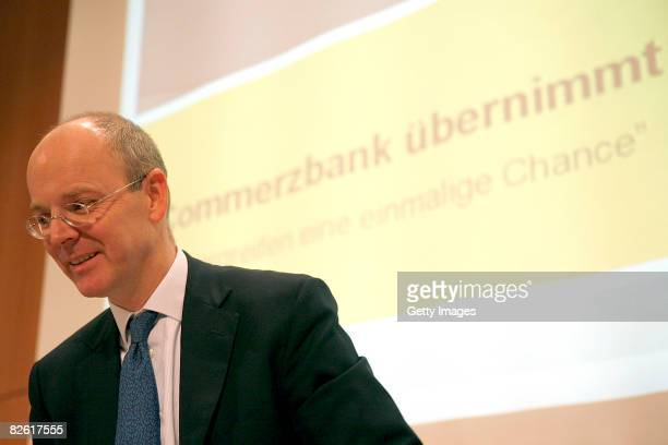 Martin Blessing is presenting details of the Dresdner Bank salel to the Commerzbank AG on September 01 2008 in Frankfurt Germany Allianz SE and...