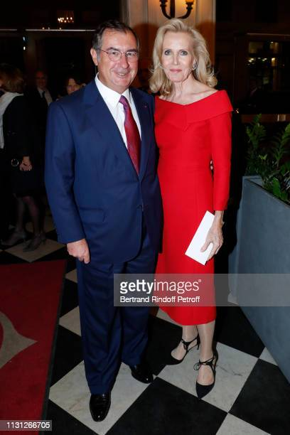 Martin Bouygues and his wife Melissa Bouygues attend the Fondation Prince Albert II De Monaco Evening at Salle Gaveau on February 21 2019 in Paris...