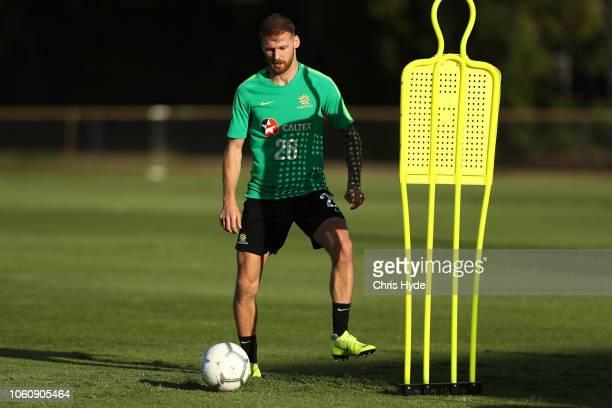 Martin Boyle during a Australian Socceroos training session at Lion FC Stadium on November 13 2018 in Brisbane Australia