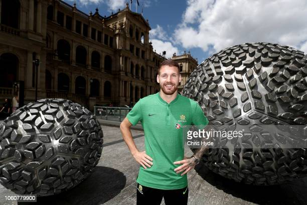 Martin Boyle poses during an Australian Socceroos media opportunity at Reddacliff Place on November 13 2018 in Brisbane Australia