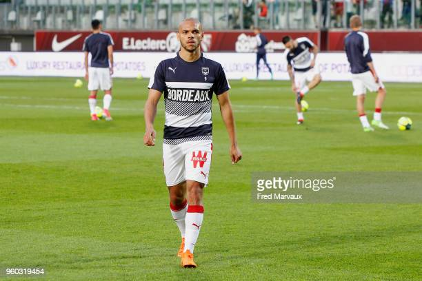 Martin Braithwaite of Bordeaux during the Ligue 1 match between Metz and FC Girondins de Bordeaux at on May 19 2018 in Metz