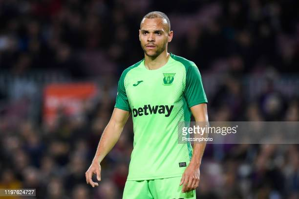 Martin Braithwaite of CD Leganes during the Spanish King Cup match between Barcelone and Leganes at Camp Nou on January 30 2020 in Barcelona Spain