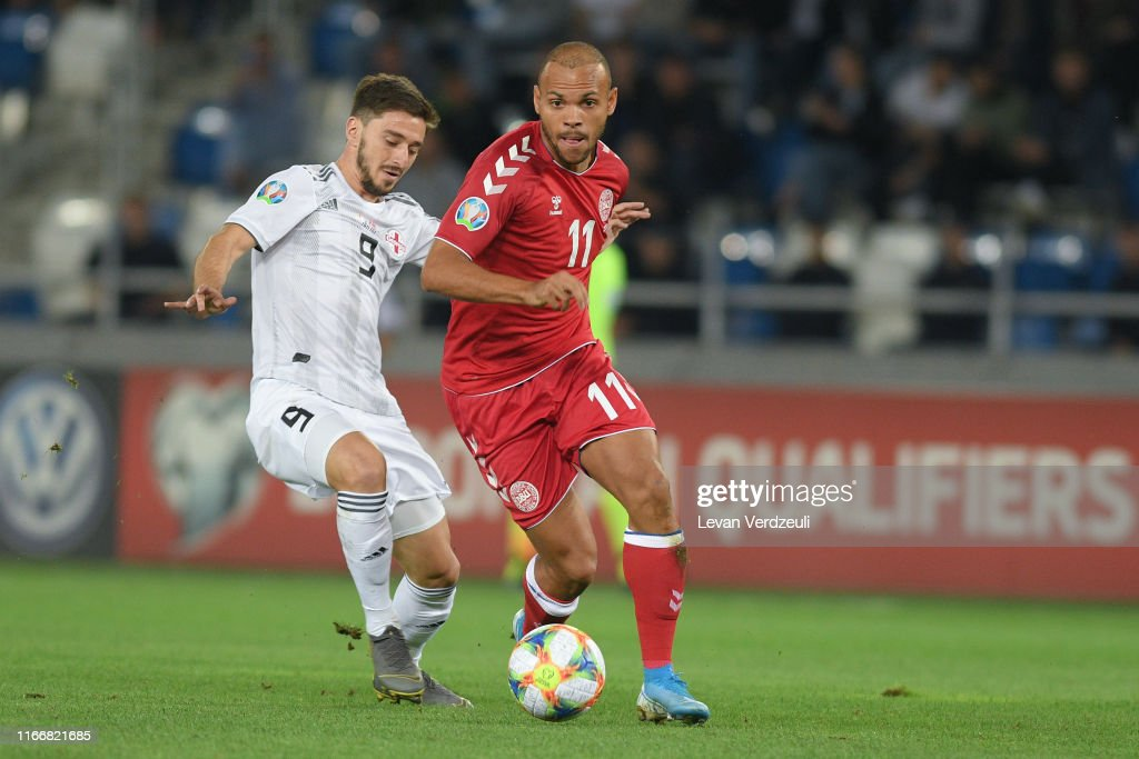 Georgia v Denmark  - UEFA Euro 2020 Qualifier : Nachrichtenfoto