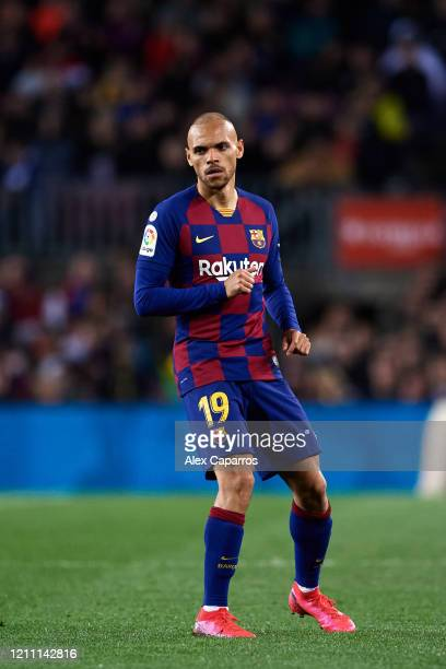 Martin Braithwaite of FC Barcelona looks on during the Liga match between FC Barcelona and Real Sociedad at Camp Nou on March 07 2020 in Barcelona...