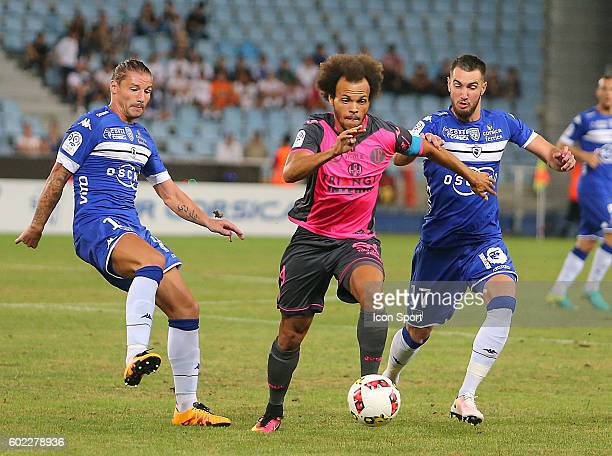 Martin Braithwaite of Toulouse during the french Ligue 1 match between Sc Bastia and Toulouse Fc at Stade Armand Cesari on September 10 2016 in...