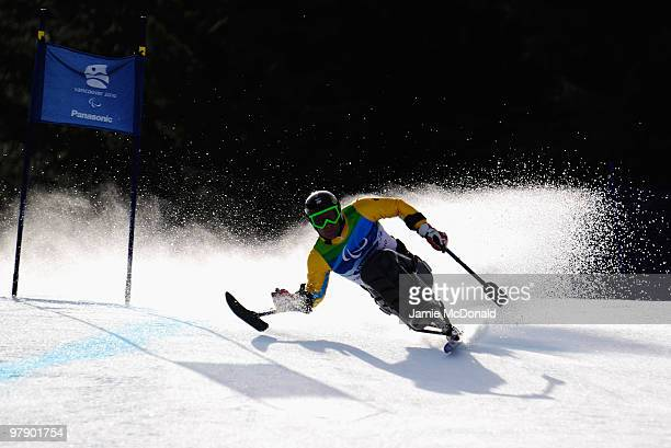 Martin Braxenthaler of Germany competes in the Men's Sitting Combined SuperG during Day 9 of the 2010 Vancouver Winter Paralympics at Whistler...