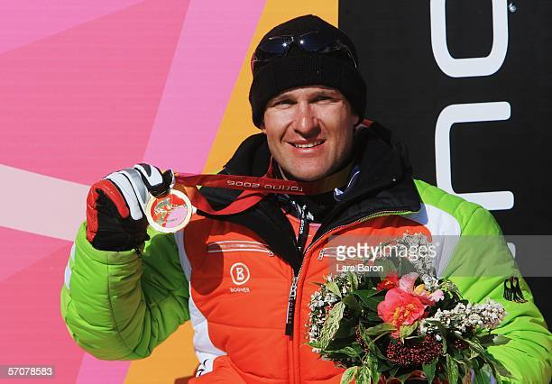 Martin Braxenthaler of Germany wins the Gold Medal in the Men's Super G Sitting during Day Four of the Turin 2006 Winter Paralympic Games on March 14...