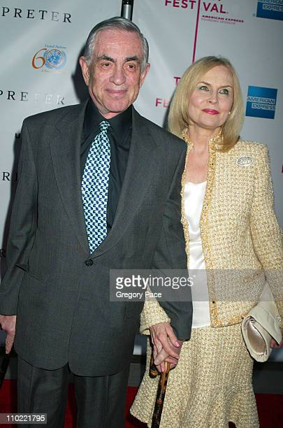 "Martin Bregman and wife Cornelia Sharpe during 4th Annual Tribeca Film Festival - ""The Interpreter"" Premiere at Ziegfeld Theater in New York City,..."