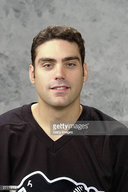 Martin Brochu of the Pittsburgh Penguins poses for a portrait on September15 2003 at Mellon Arena in Pittsburgh Pennsylvania