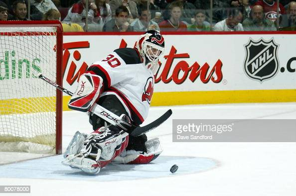 Martin Brodeur Of The New Jersey Devils Makes A Save Against The