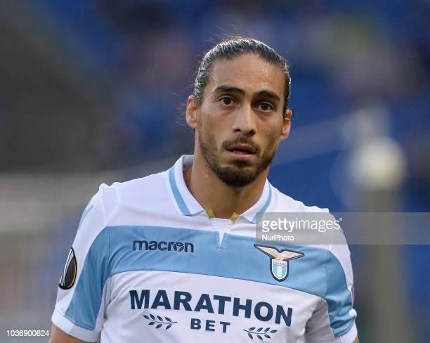 Martin Caceres during the Europe League football match SS Lazio vs Apollon at the Olympic Stadium in Rome on september 20 2018