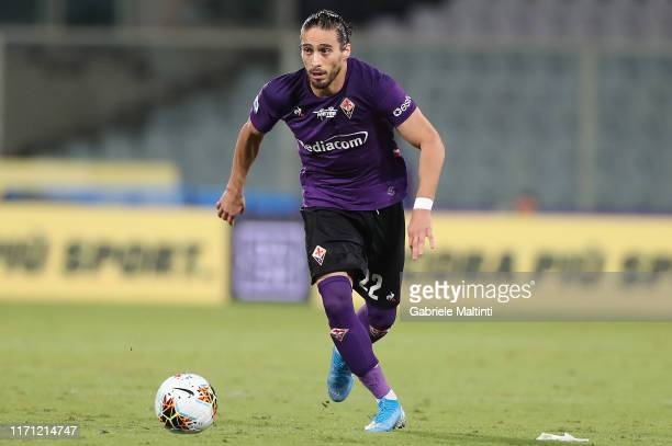 Martin Caceres of ACF Fiorentina in action during the Serie A match between ACF Fiorentina and UC Sampdoria at Stadio Artemio Franchi on September...