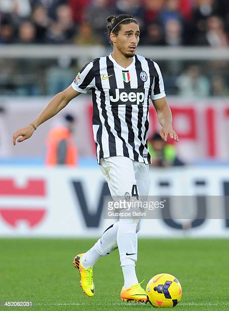 Martin Caceres of Juventus in action during the Serie A match between AS Livorno Calcio and Juventus at Stadio Armando Picchi on November 24 2013 in...
