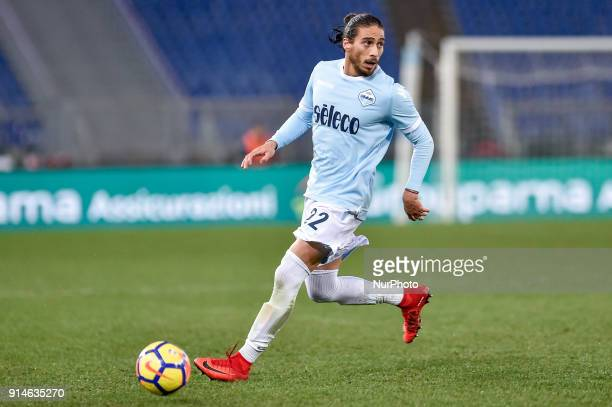 Martin Caceres of Lazio during the Serie A match between Lazio and Genoa at Olympic Stadium Roma Italy on 5 February 2018