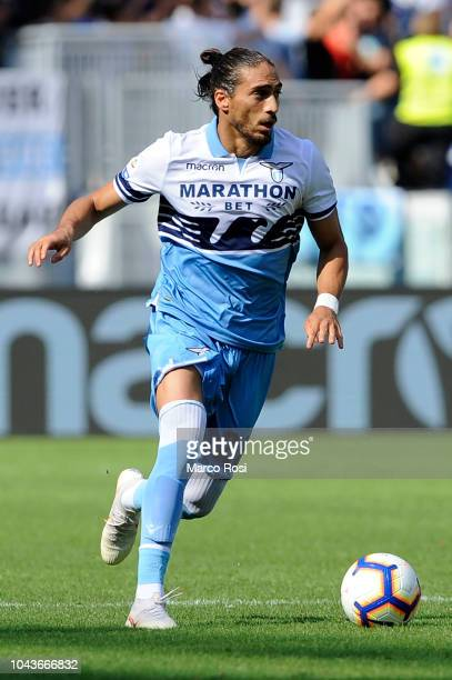 Martin Caceres of SS Lazio in action during the Serie A match between SS Lazio and Genoa CFC at Stadio Olimpico on September 23 2018 in Rome Italy