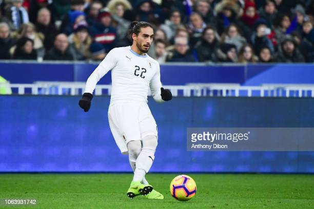 Martin Caceres of Uruguay during the International Friendly match between France and Uruguay at Stade de France on November 20 2018 in Paris France