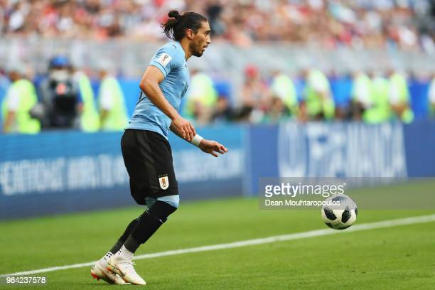 Martin Caceres of Uruguay in action during the 2018 FIFA World Cup Russia group A match between Uruguay and Russia at Samara Arena on June 25 2018 in...