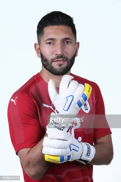 Martin Campana of Uruguay poses for a portrait during the official FIFA World Cup 2018 portrait session at Borsky Sport Centre on June 12 2018 in...