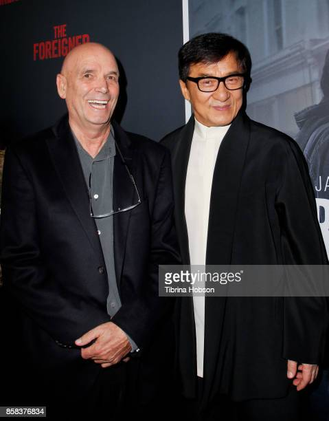 Martin Campbell and Jackie Chan attend the premiere of 'The Foreigner' at ArcLight Hollywood on October 5 2017 in Hollywood California