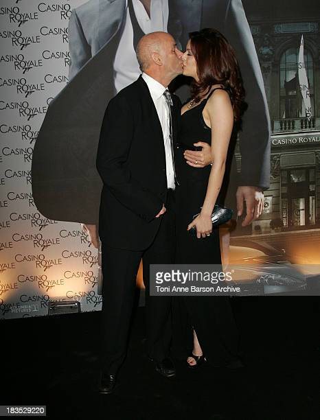 Martin Campbell and wife during Casino Royale Paris Premiere Inside Arrivals at Le Grand Rex Theater in Paris France