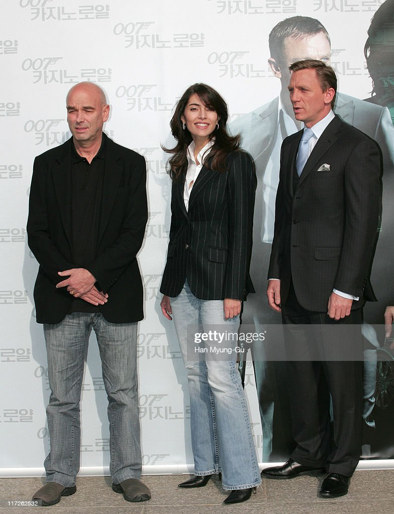 Martin Campbell, director, Caterina Murino and Daniel Craig