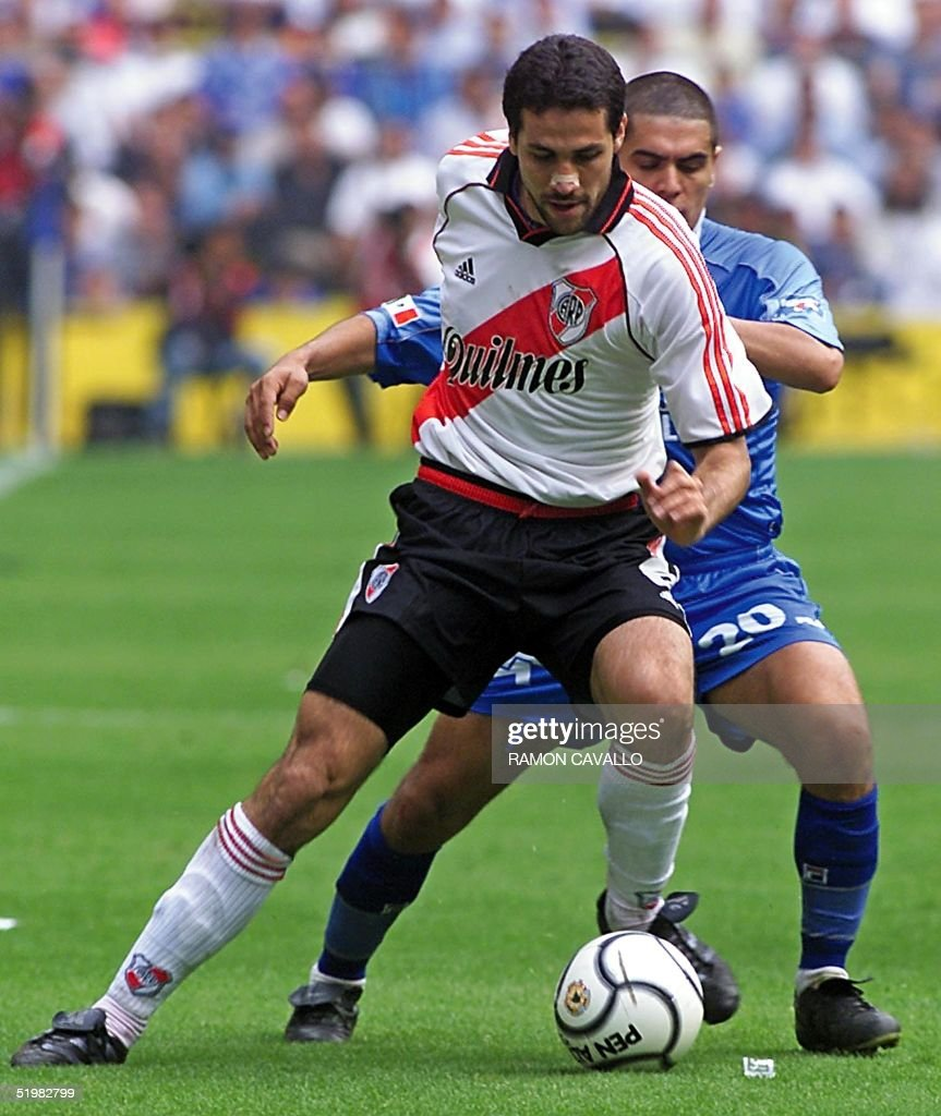 Martin Cardetti Of The Argentinian Team River Plate Carries The Ball
