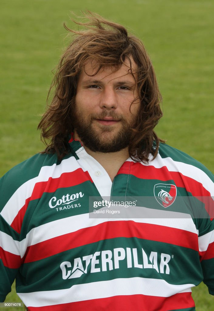 Martin Castrogiovanni of Leicester Tigers poses for a portrait at Oadby Oval on August 25, 2009 in Leicester, England.