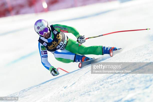 Martin Cater of Slovenia competes during the Audi FIS Alpine Ski World Cup Men's Super G on December 29 2018 in Bormio Italy