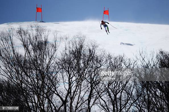 Martin Cater of Slovenia competes during the Men's Alpine Combined Downhill on day four of the PyeongChang 2018 Winter Olympic Games at Jeongseon...