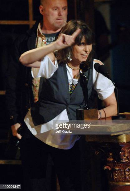 Martin Chambers and Chrissie Hynde of The Pretenders, inductees