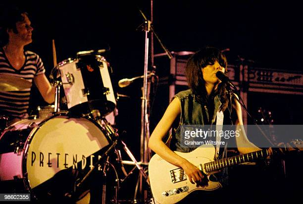 Martin Chambers and Chrissie Hynde of The Pretenders perform on stage at the Queensway Hall on March 1st 1980 in Dunstable, United Kingdom.