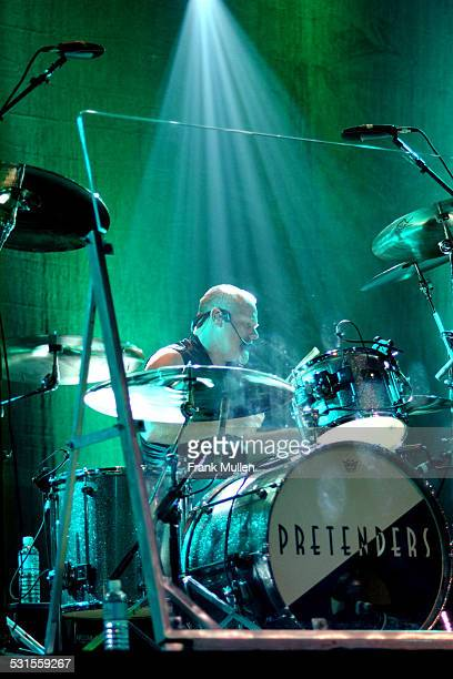 Martin Chambers of the Pretenders performs with the band at the Tabernacle in Atlanta, January 27, 2003.