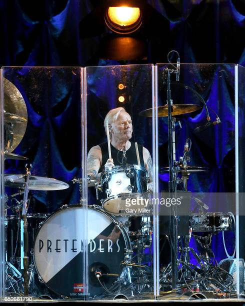 Martin Chambers performs in concert with The Pretenders at The Frank Erwin Center on March 12, 2017 in Austin, Texas.