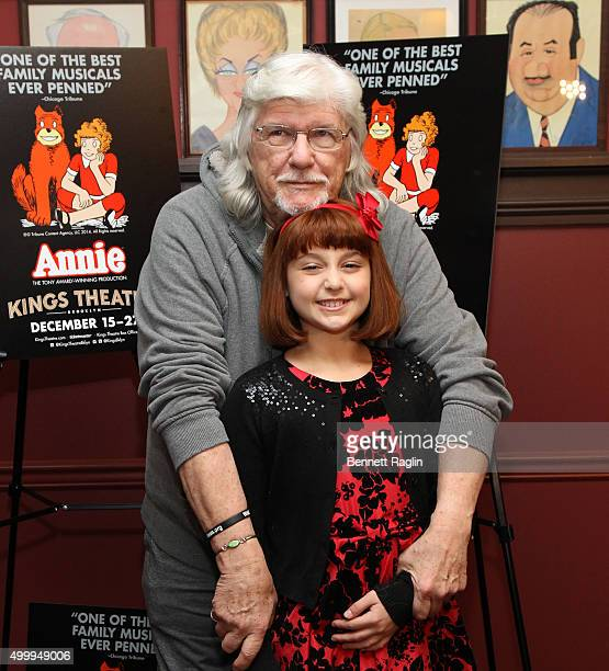 Martin Charnin and Issie Swickle the Annie Cast Photocall at Sardi's on December 4 2015 in New York City